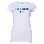 Iceland Euro 2016 Core Junior Women's T-Shirt (White)