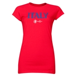 Italy Euro 2016 Core Junior Women's T-Shirt (Red)
