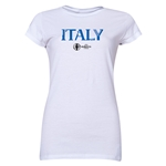 Italy Euro 2016 Core Junior Women's T-Shirt (White)