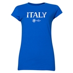 Italy Euro 2016 Core Junior Women's T-Shirt (Royal)