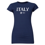 Italy Euro 2016 Core Junior Women's T-Shirt (Navy)