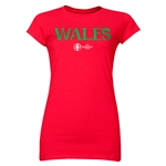 Wales Euro 2016 Core Junior Women's T-Shirt (Red)