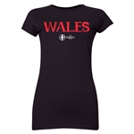 Wales Euro 2016 Core Junior Women's T-Shirt (Black)