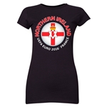 Northern Ireland Euro 2016 Core Junior Women's T-Shirt (Black)