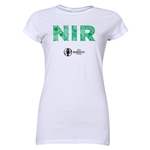Northern Ireland Euro 2016 Elements Junior Women's T-Shirt (White)