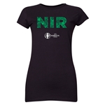 Northern Ireland Euro 2016 Elements Junior Women's T-Shirt (Black)