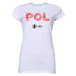 Poland Euro 2016 Element Junior Women's T-Shirt (White)