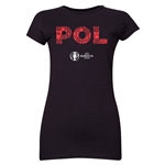 Poland Euro 2016 Element Junior Women's T-Shirt (Black)