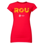 Romania Euro 2016 Element Junior Women's T-Shirt (Red)