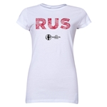 Russia Euro 2016 Elements Junior Women's T-Shirt (White)