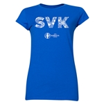 Slovakia Euro 2016 Elements Junior Women's T-Shirt (Royal