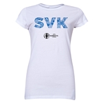 Slovakia Euro 2016 Elements Junior Women's T-Shirt (White)