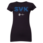 Slovakia Euro 2016 Elements Junior Women's T-Shirt (Black)