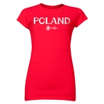 Poland Euro 2016 Core Junior Women's T-Shirt (Red)