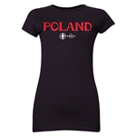 Poland Euro 2016 Core Junior Women's T-Shirt (Black)