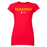 Romania Euro 2016 Core Junior Women's T-Shirt (Red)
