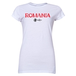 Romania Euro 2016 Core Junior Women's T-Shirt (White)