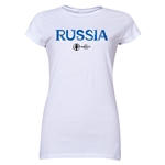 Russia Euro 2016 Core Junior Women's T-Shirt (White)