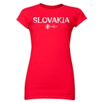 Slovakia Euro 2016 Core Junior Women's T-Shirt (Red)