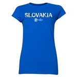 Slovakia Euro 2016 Core Junior Women's T-Shirt (Royal)