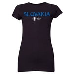 Slovakia Euro 2016 Core Junior Women's T-Shirt (Black)
