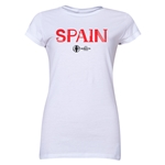 Spain Euro 2016 Core Junior Women's T-Shirt (White)