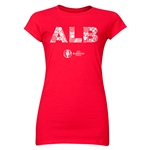 Albania Euro 2016 Elements Junior Women's T-Shirt (Red)