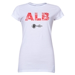 Albania Euro 2016 Elements Junior Women's T-Shirt (White)