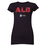 Albania Euro 2016 Elements Junior Women's T-Shirt (Black)
