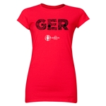 Germany Euro 2016 Elements Junior Women's T-Shirt (Red)