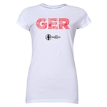 Germany Euro 2016 Elements Junior Women's T-Shirt (White)