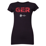 Germany Euro 2016 Elements Junior Women's T-Shirt (Black)