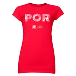 Portugal Euro 2016 Elements Junior Women's T-Shirt (Red)
