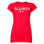 Albania Euro 2016 Core Junior Women's T-Shirt (Red)