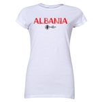Albania Euro 2016 Core Junior Women's T-Shirt (White)