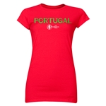 Portugal Euro 2016 Core Junior Women's T-Shirt (Red)