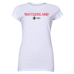 Switzerland Euro 2016 Core Junior Women's T-Shirt (White)