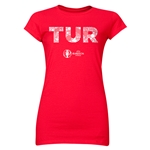 Turkey Euro 2016 Elements Junior Women's T-Shirt (Red)