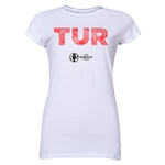 Turkey Euro 2016 Elements Junior Women's T-Shirt (White)