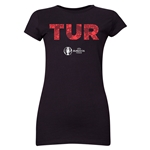 Turkey Euro 2016 Elements Junior Women's T-Shirt (Black)