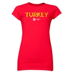 Turkey Euro 2016 Junior Women's T-Shirt (Red)