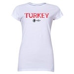 Turkey Euro 2016 Junior Women's T-Shirt (White)