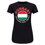 Hungary Euro 2016 Core Junior Women's T-Shirt (Black)