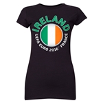 Ireland Euro 2016 Core Junior Women's T-Shirt (Black)