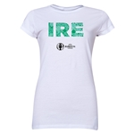 Ireland Euro 2016 Elements Junior Women's T-Shirt (White)