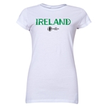 Ireland Euro 2016 Junior Women's T-Shirt (White)