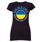 Ukraine Euro 2016 Core Junior Women's T-Shirt (Black)