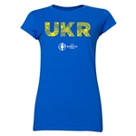 Ukraine Euro 2016 Elements Junior Women's T-Shirt (Royal)
