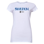 Sweden Euro 2016 Junior Women's T-Shirt (White)