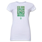 Werder Bremen I Am Green and White Junior Women's T-Shirt (White)